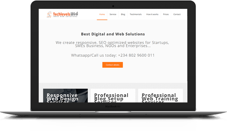 Techlevels nearby web design designer in Lagos Nigeria