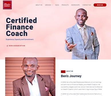 Benjamin Aduroja Certified Financial Coach Website