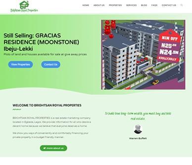 Brightsan Properties Website