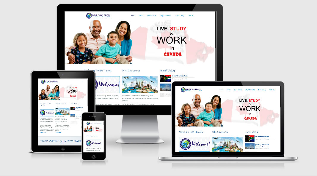 Brightsan Travels Website Responsive