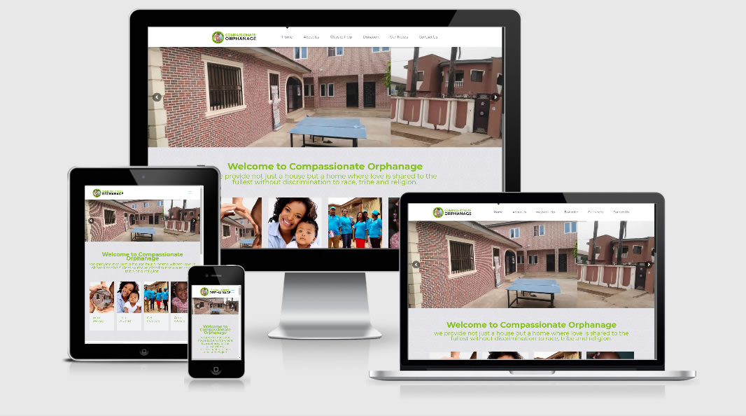 Compassionate Orphanage Website Responsive