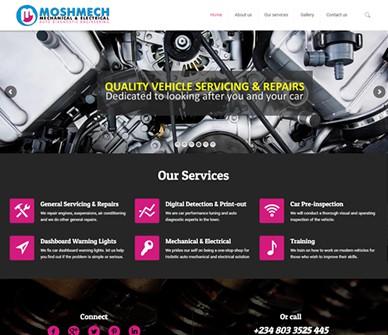 Moshmech Auto Diagnostic Engineering Website