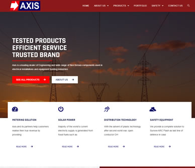 Axis Electrical Components Nigeria Ltd - Web Design Agency in Lagos | Full Digital Marketing Services
