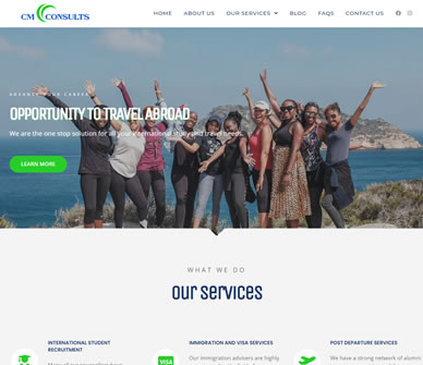 Cmconsults Travels - Web Design Agency in Lagos | Full Digital Marketing Services