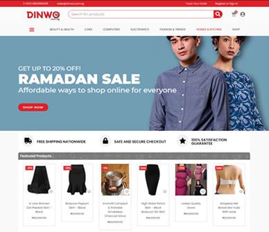 Dinwo Online Shopping - E-commerce Site